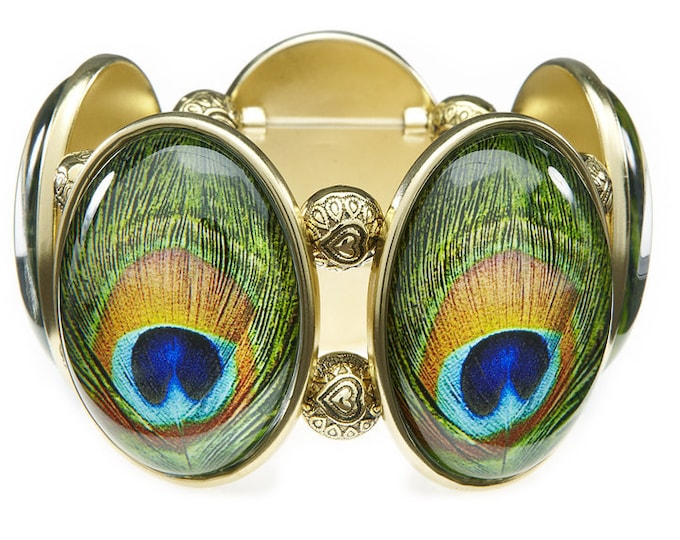 Peacock Stretch Bracelet From Joolz Hayworth