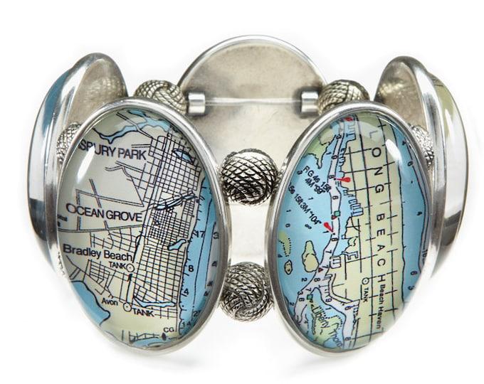Jersey Shore Map Stretch Bracelet From Joolz Hayworth