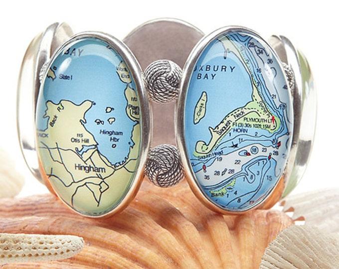Cohasset Scituate Joolz Hayworth Map Bracelet