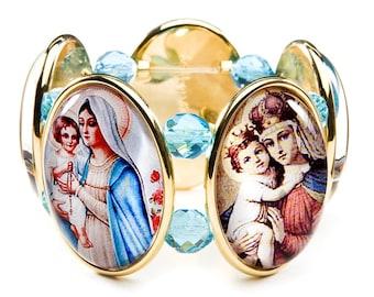 Madonna Five-Cameo Stretch Bracelet