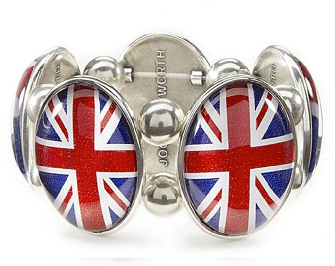 Union Jack Bracelet in Silver