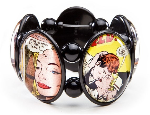 SALE Comic Romance Stretch Bracelet From Joolz Hayworth