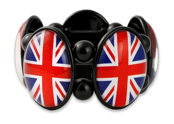 Union Jack Bracelet in Black