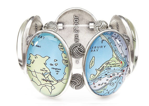 South Shore Massachusetts Chart Bracelet