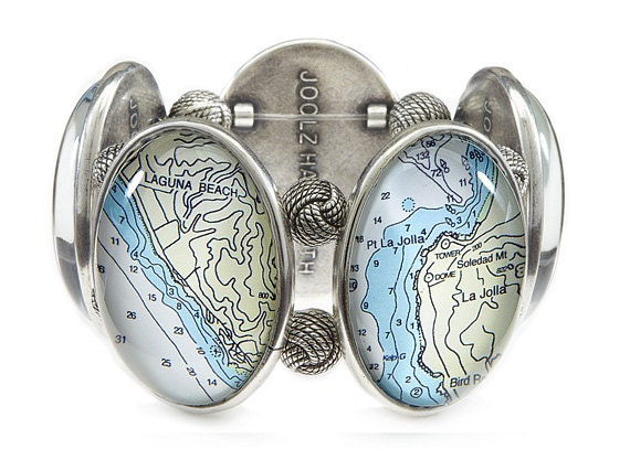 Orange County California Joolz Hayworth Map Bracelet