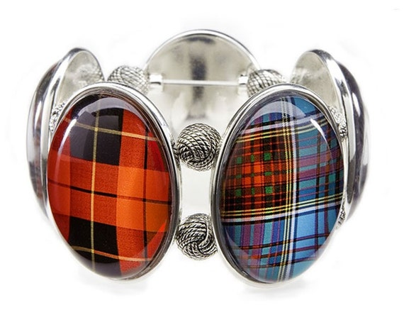 Tartan Mix Stretch Bracelet from Joolz Hayworth