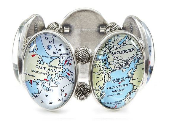 Gloucester Map Bracelet from Joolz Hayworth