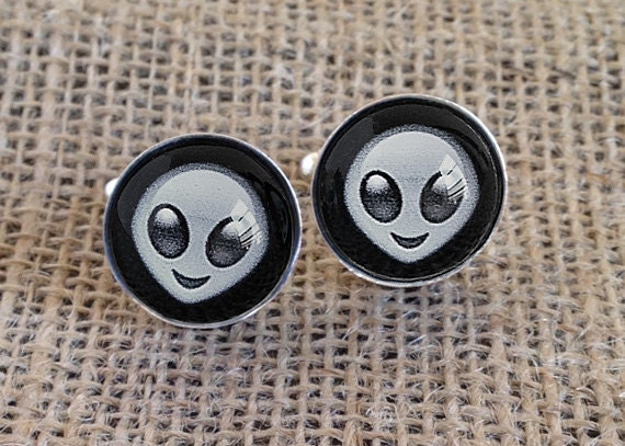 Alien Emoji Cufflinks