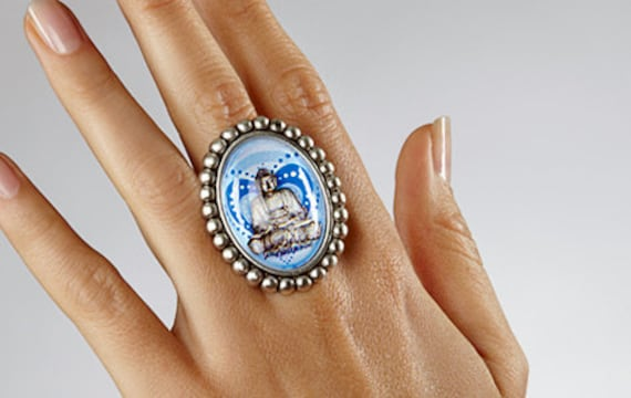 Buddha Heart Ring