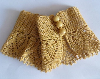 Gothic Gloves,Victorian Gloves, Yellow Gloves,Lace Gloves, Mustard Yellow, Crocheted Gloves, Pearl Buttons Bridesmaid gift, Fall Wedding