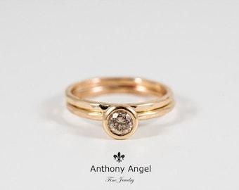 Fancy Brown Diamond Engagement Set