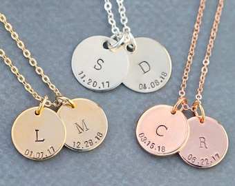 Children Initial Necklace Gift • Rose Gold Mothers Day Present • Personalized Rose Gold Initial Mommy Necklace •Dainty Charm Mother Gift