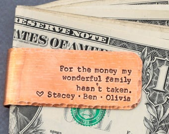 Money Clip Dad Gift • Personalized Custom Wedding Gift • Father Bride • Daddy Gift Father Family Gift Dad Birthday Father Gift • QQQ