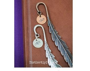 Teacher Gift Bookmark • Teacher Appreciation Gift Student Metal Bookmark • Custom Book Lover Gift Book Club Feather Bookmark •Librarian Gift
