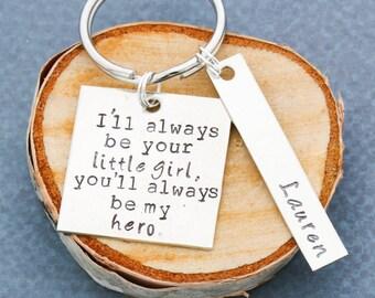 Dad Keychain • Personalized Dad Gift • Custom Name Keychain • Dad Key Chain • Husband Gift • Gift From Daughter • Daddys Girl