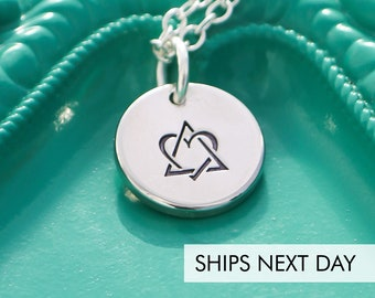 Adoption Necklace • Handstamped Adoptive Mom Jewelry • Birthmother Gift Foster Parent • Adoption Triad Symbol • Gotcha Day Forever Family