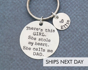 New Dad Gift O Unique Quote Daddy Keychain Dads Birthday For Him Father Husband Fun