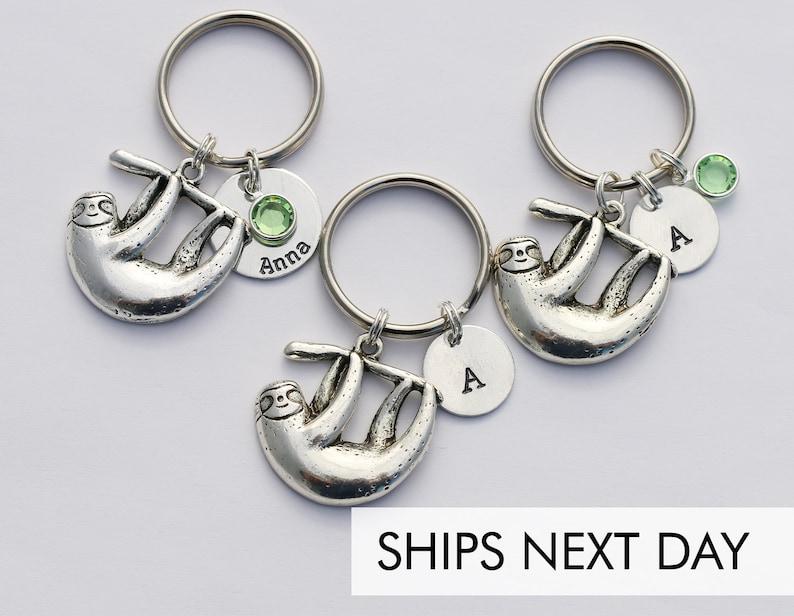 Sloth Keychain Friend Gift  Friendship Keychain Best Friend image 0