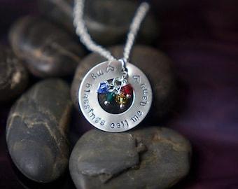 Mom Gift Necklace Mommy Birthday • My Blessings Grandma Necklace • Nana Gift Grandchildren Grandkids Grandma Quote Nana Jewelry QQQ