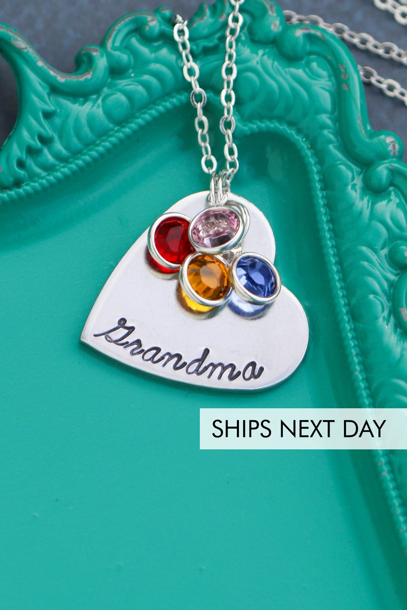 Grandma Necklace Mom Jewelry Birthday Gift Custom