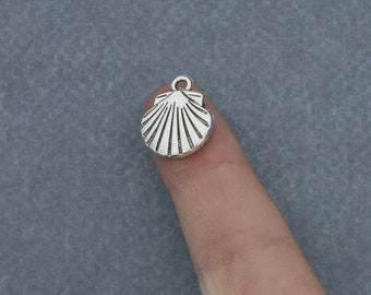 5 Pack Seashell Charm Silver Jewelry Seashell Pendant - Pack of 5 Charms