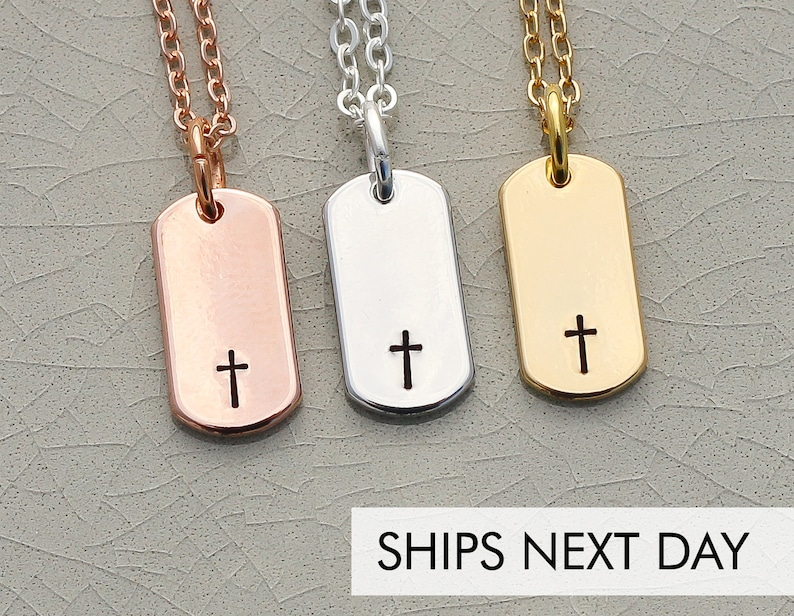 Dainty Cross Necklace  Baptism Gift Faith Necklace First image 0