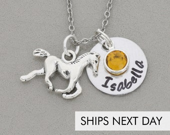 Horse Necklace Personalized Horse Gift Pony Necklace • Lover Horse Jewelry Horse Birthday Gift • Girl Jewelry Riding Horse Pet
