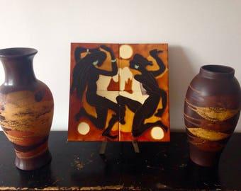 Fire Dance ceramic tile