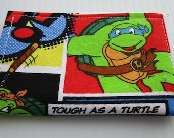 Ninja Turtles Card Holder, TMNT Minimalist Wallet, Travel Wallet, Slim Wallet, Card Wallet, Business Card Holder, Card Case, Bifold Wallet