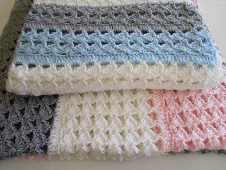Easy Crochet Blanket Pattern Crochet Throw Blanket Crochet Etsy