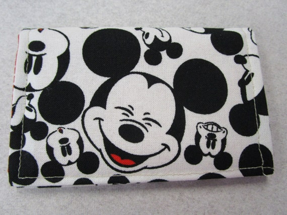 Disney Wallet Travel Business Card Holder Mickey Mouse Etsy
