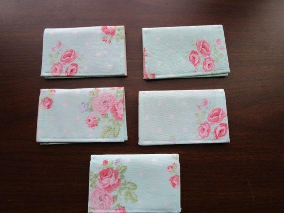 Shabby Chic Blumenmuster Visitenkartenhalter Bi Fold Brieftasche