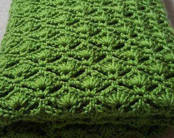 Crochet Baby Blanket Pattern, Crochet Afghan Pattern, Chunky Throw Blanket