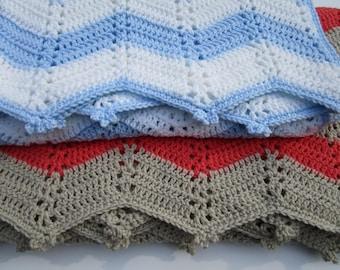 Crochet Throw Blanket Pattern, Crochet Baby Blanket Pattern, Easy Crochet Pattern