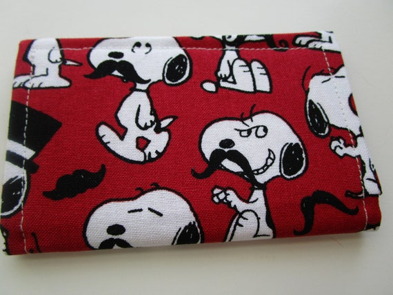 Wallet Travel Business Card Holder Snoopy Credit Card Etsy