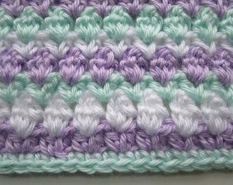 Easy Crochet Blanket Pattern, Chunky Throw, Beginner Afghan