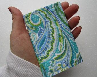 Paisley Womens Wallet, Gift Card Holder, Tea Bag Holder