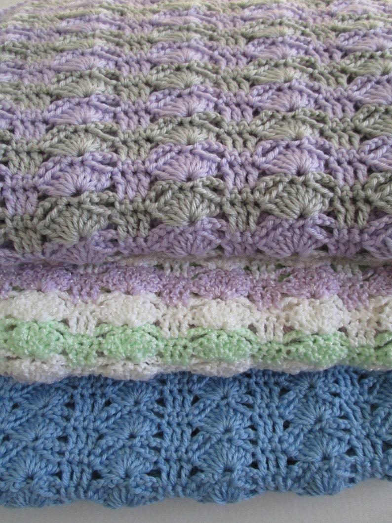 Easy Crochet Blanket Pattern Modern Crochet Throw Blanket Etsy
