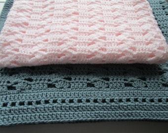 Crochet Patterns Baby Blanket, Throw Bedspread, Chunky Afghan, Boy or Girl Blanket