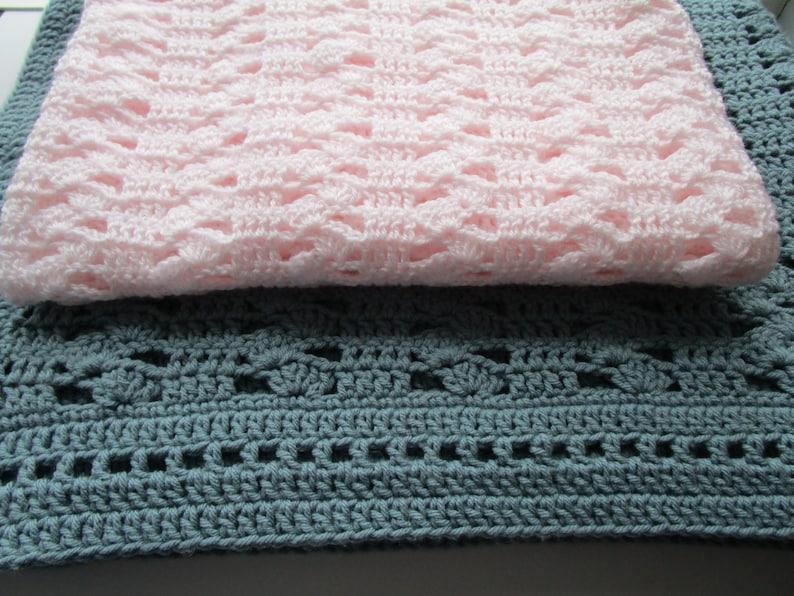 Modern Crochet Easy Crochet Baby Blanket Pattern Shell Etsy