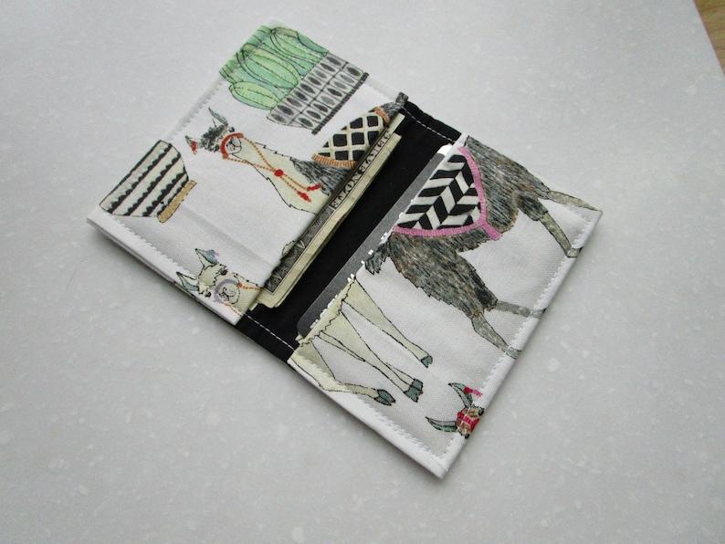 Badge ID Cactus Succulents Womens Wallet Llama Business Card Holder