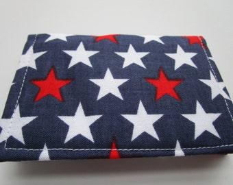 Wallet, Minimalist Wallet, Business Card Holder, Travel Wallet, Business Card Case, Small Wallet, Bifold Wallet, AMERICAN FLAG, Card Wallet