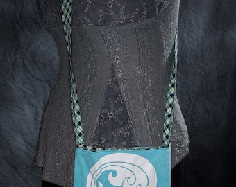 Ocean Reversible Upcycled T-Shirt Tote