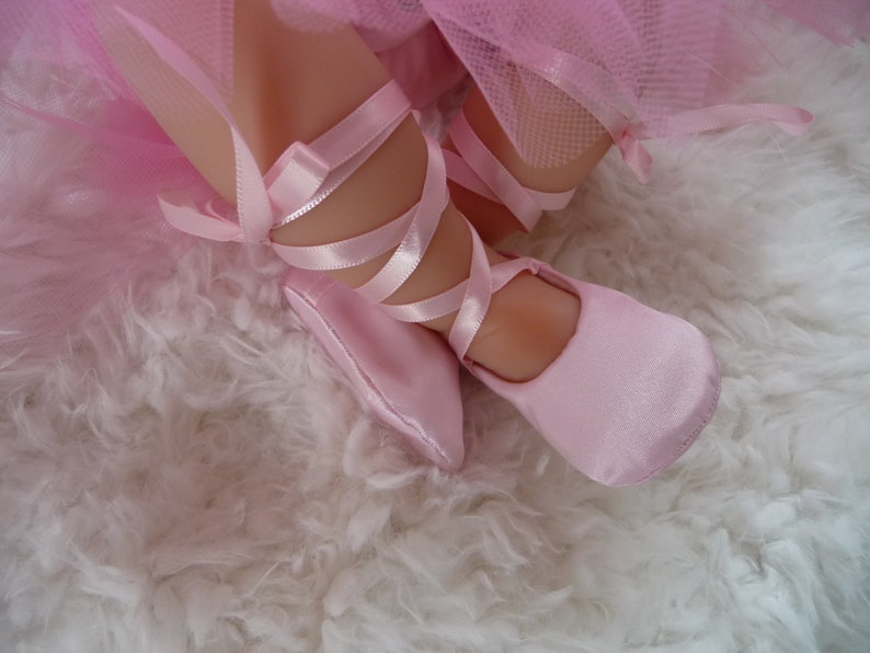 ae47c8d656be Baby Girl Shoes . Ballet Slippers in Pink Satin . Ballerina
