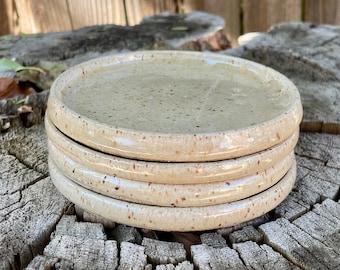 Rimmed Coasters in sets of 2 with Beautiful Soft Yellow Glaze | Tea Coffee Beverage | Handmade Coasters | Handmade Wheel Thrown Coasters