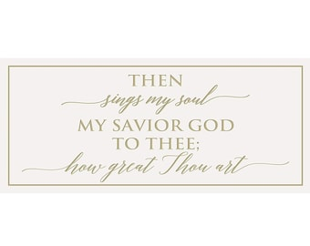 Scripture The  Sings My Soul Biblical Signs How Great Thou Art