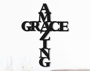 Amazing Grace Word Art Wood 3D Cutout by MRC Wood Products