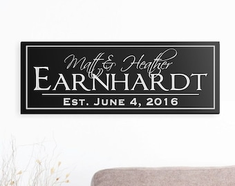 Personalized Family Name Sign Plaque Established Family Sign Carved Engraved Wall Sign wedding or anniversary gift