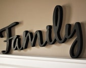 Word Art Wood 3D Cutout Family by MRC Wood Products