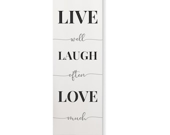 """Large Primitive /"""" Live Well Laugh Often Love Much """" Hang Tags Lot Of 12"""